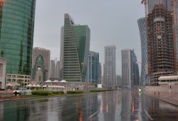 Rain season has come in Qatar