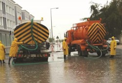 Emergency teams drain out 17.8mn gallons of rainwater