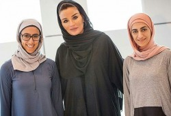 Sheikha Moza met with the co-founders of Oola Sports