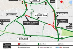 A Two years traffic diversion on Al Rayyan Street