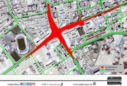 Temporary closure of Al Delah roundabout in Al Khor