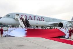 """القطرية تتسلم أول طائرة إيرباص """"أي 350-1000"""""""